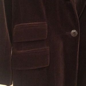 Ann Taylor Jackets & Coats - Ann Taylor Brown Velvet Riding Jacket, Size 6